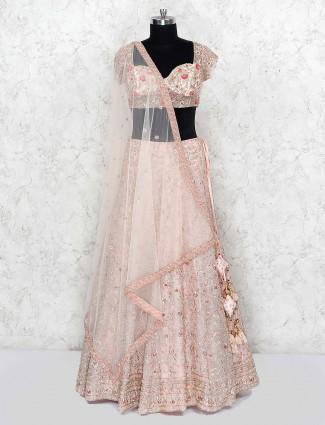 Rose pink georgette beautiful bridal lehenga choli