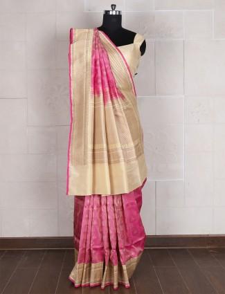 Silk Light pink saree