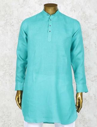 Simple aqua color festive function short pathani