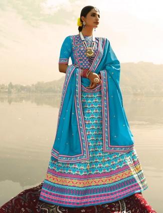 Splendid Blue festive wear readymade lehenga choli
