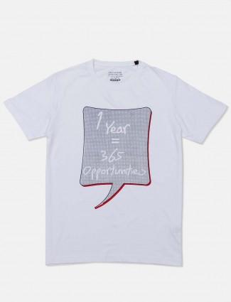 Status Quo printed white men cotton t-shirt