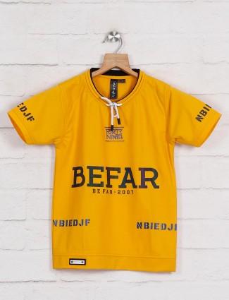 Sturd mustard yellow cotton t-shirt