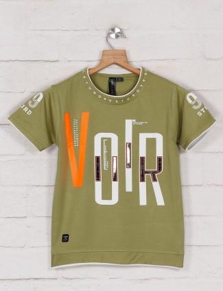 Sturd printed green cotton boys t-shirt