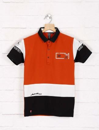 Sturd solid rust orange cotton t-shirt