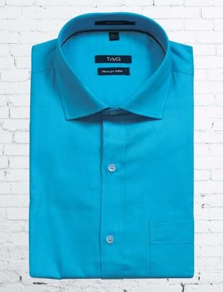 TAG formal aqua color shirt