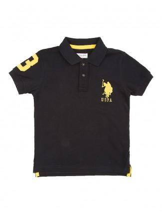 U S Polo black casual t-shirt
