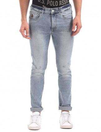 U S Polo sky blue mens jeans