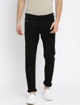 U S Polo solid black color jeans