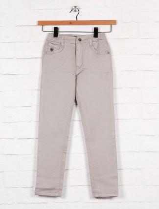 U-tex cotton fabric grey hue solid trouser