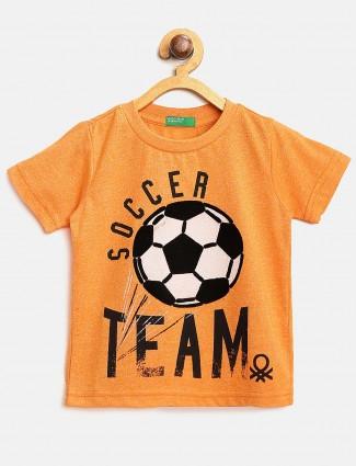 United Colors of Benetton orange casual t-shirt