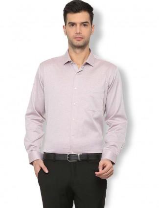 Van Heusen solid cream colored shirt