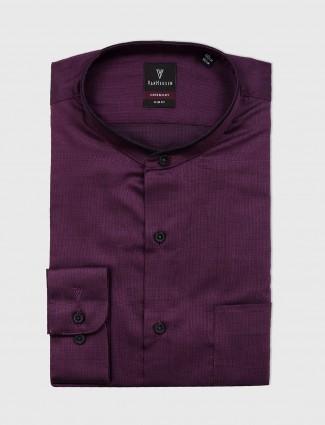 Van Heusen solid purple shirt