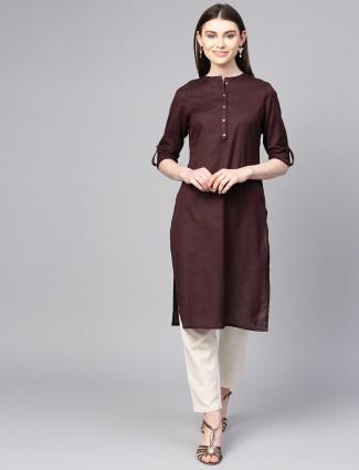 W brown hue casual kurti