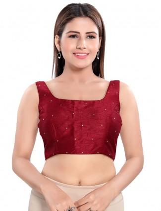 Wedding wear marron blouse for women