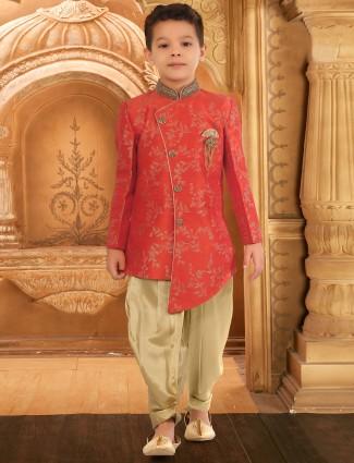 Wedding wear red hued indo western