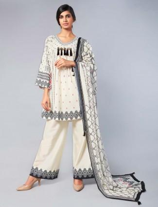 White color cotton palazzo suit