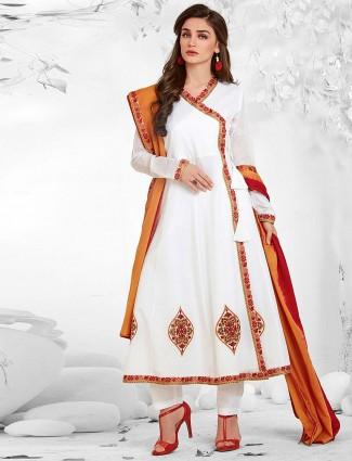 White color cotton pretty punjabi salwar suit