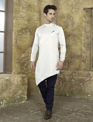 White color festive kurta suit