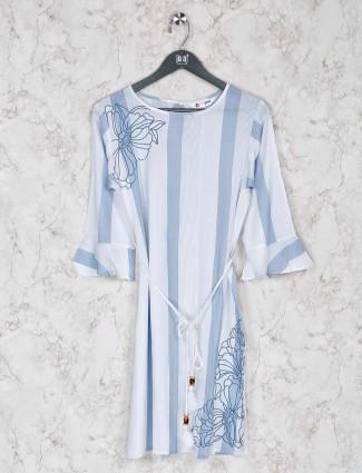 White cotton stripe kurti
