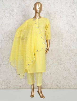 Yellow gotta work cotton suit