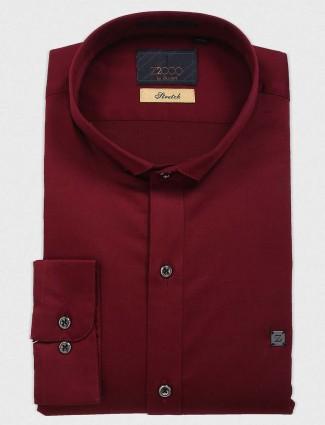 Zillian wine simple cotton shirt