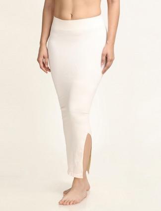 Zivame Saree Shape Wear cream Lycra Petticoat