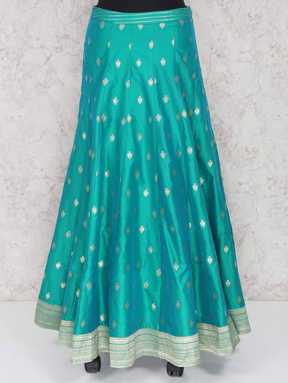 941639973f Aqua hue raw silk fabric lehenga choli - G3-WLC3674 | G3fashion.com