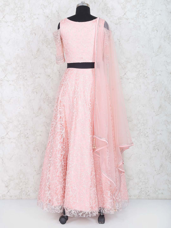 82f738e722 Baby pink net lehenga choli - G3-WLC3362 | G3fashion.com