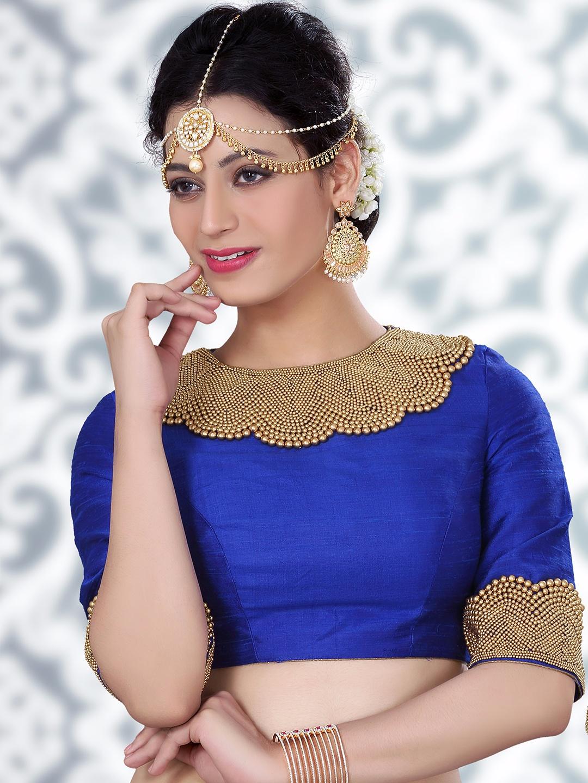 Blue Readymade Saree blouse