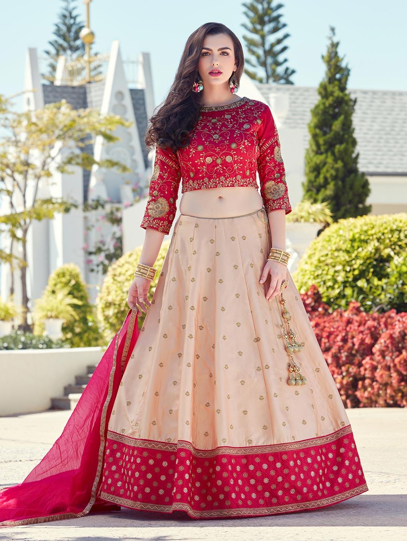 5b185b8ad5 Beige and reds silk wedding lehenga choli - G3-WLC3409 | G3fashion ...