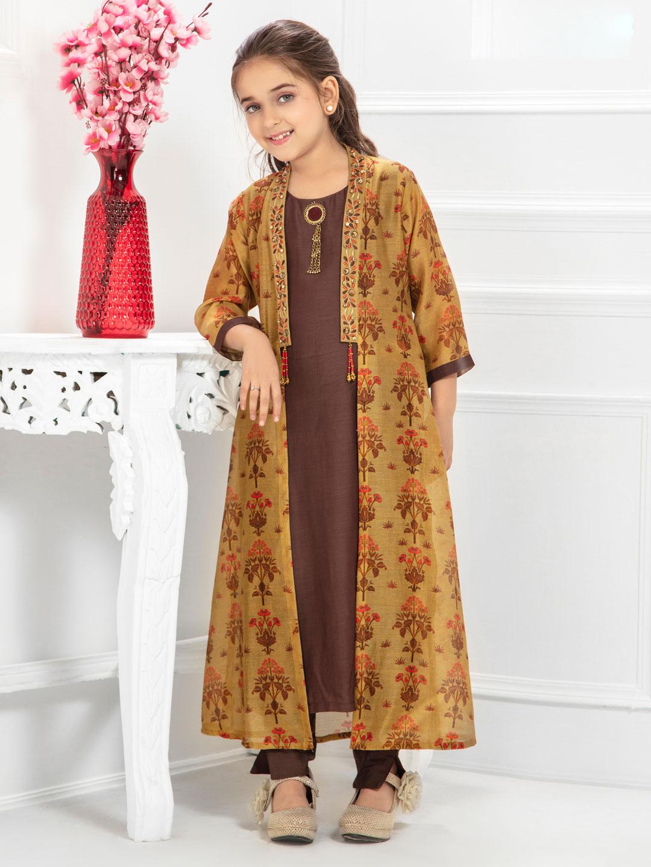 7d0a76dc25 Brown hued cotton pant style salwar suit - G3-GSS1232 | G3fashion.com