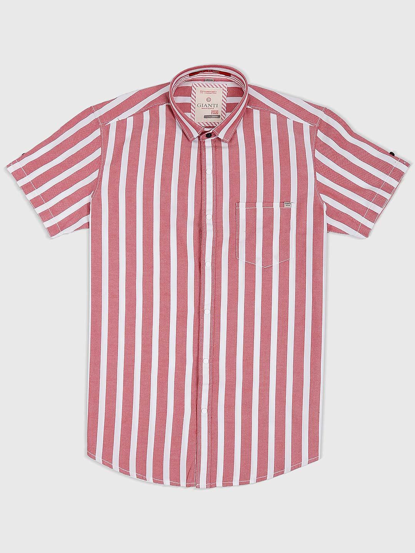 b726fa65 Gianti dusty pink stripe mens shirt - G3-MCS6637 | G3fashion.com