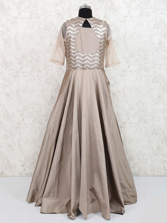 0419dcfdb17 Grey silk designer party wear gown - G3-WGO1487 | G3fashion.com