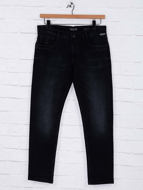 65deca4400 Kozzak solid black mens slim fit jeans - G3-MJE2119 | G3fashion.com