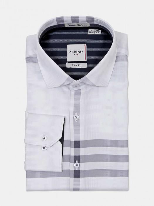 Albino Stripe White Formal Wear Shirt