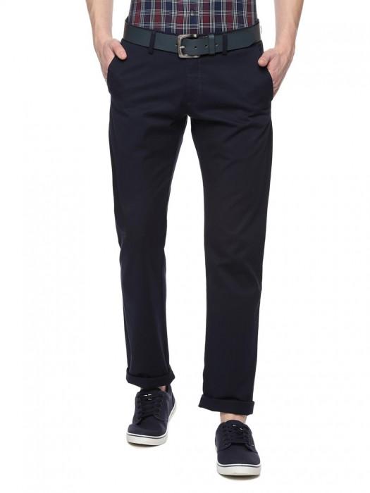 Allen Solly Solid Black Color Casual Wear Trouser