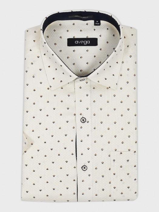 Avega Cream Printed Pattern Shirt