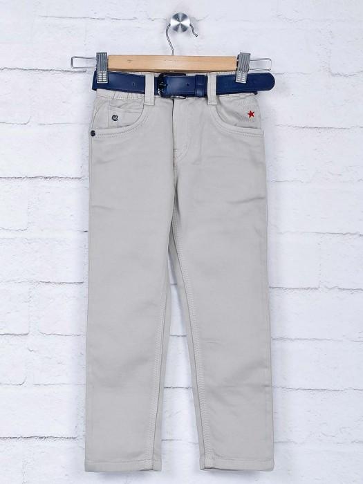 Bad Boys Beige Hue Solid Casual Wear Jeans