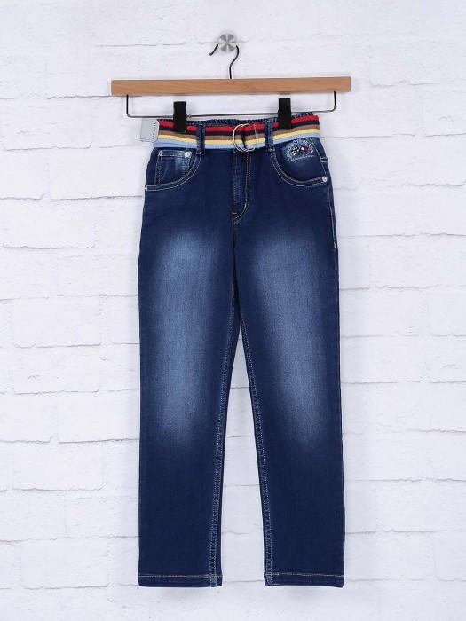 Bad Boys Blue Denim Solid Jeans