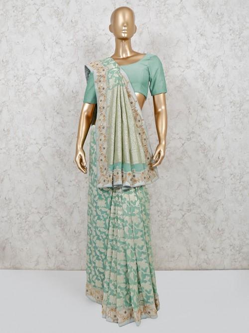 Banarasi Silk Wedding Wear Saree For Pretty Womens