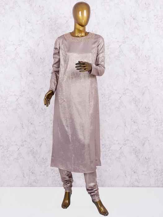 Beige Hue Shimmer Punjabi Salwar Suit