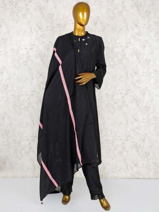 Black Color Festive Cotton Punjabi Salwar Suit