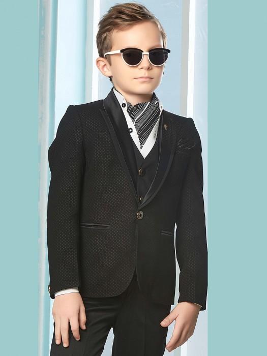 Black Color Party Wear Three Piece Tuxedo Suit