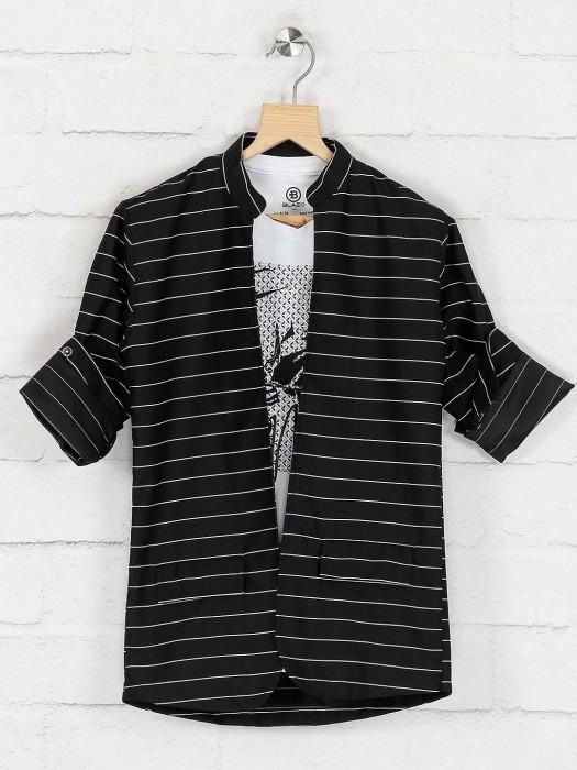 Black Colored Cotton Casual Blazer