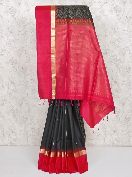 Black South Silk Wedding Occasion Saree