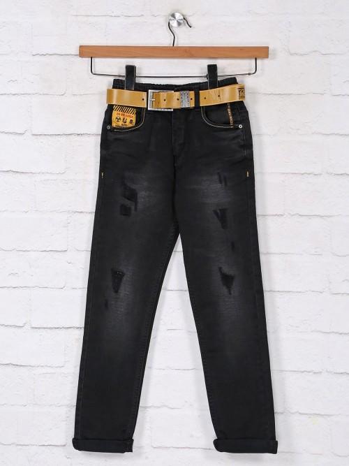 Black Washed Denim Jeans