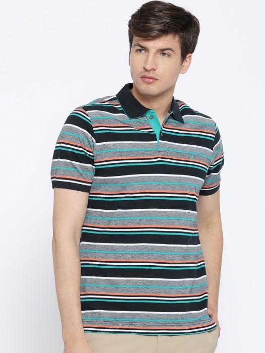 Blackberrys Stripe Grey Hued Cotton T-shirt