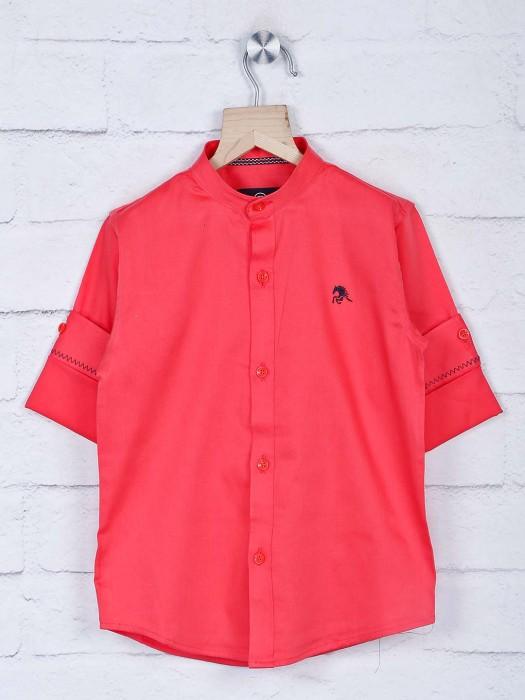 Blazo Bright Pink Cotton Full Sleeves Shirt