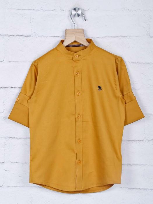 Blazo Mustard Yellow Hue Cotton Shirt