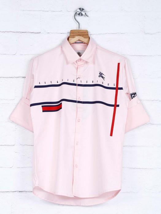Blazo Stripe Pink Casual Slim Collar Shirt